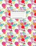 Composition Notebook: Girls' notebooks. 8.5 x 11, College Ruled, 100 pages Notebooks with sophisticated and precious cover the main theme is the flower color: To Do Lists for You to Organize