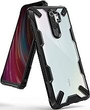 """Ringke Fusion-X Diseñado para Funda Xiaomi Redmi Note 8 Pro, Transparente al Dorso Carcasa Redmi Note 8 Pro 6.53"""" Protección Resistente Impactos TPU + PC Funda para Redmi Note 8 Pro 2019 - Black"""