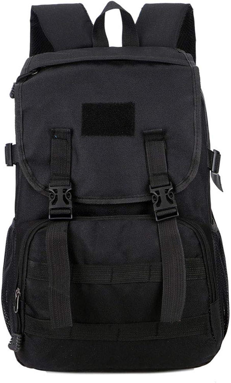 ZH Hiking Daypacks Camouflage Backpack Outdoor Mountaineering BagTravel Backpack Shoulder Bag Sports Backpack Man 35L (color   Black)