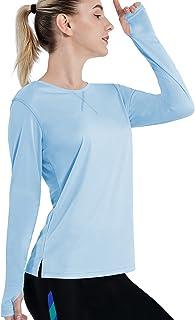 ZITY Womens UPF 50+ Sun Protection Shirts Sunscreen T-Shirt Long Sleeve Athletic Breathable Rash Guard Outdoor Beach Hiking