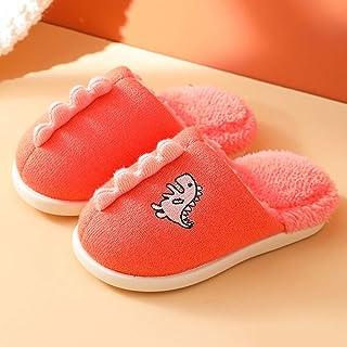 ECSWP MSGWNHLPSB Automne Hiver Enfants Filles Intérieur Maison Fourrure Chaud Pantoufles Garçons Enfants Casual Chaussures...