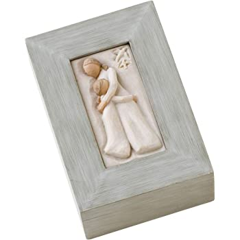 Willow Tree, sculpted hand-painted memory box (Mother and Daughter)