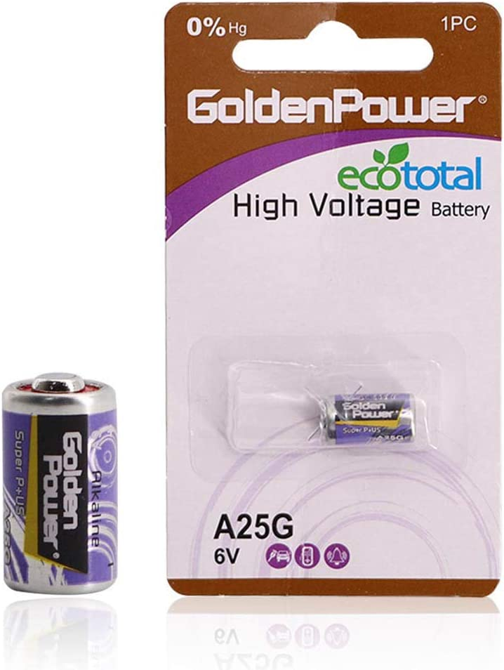 GoldenPower A21G 6V Alkaline Battery Maxi Plus Incredibly Safe Version Ecototal,1 Count