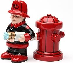fireman salt and pepper shakers