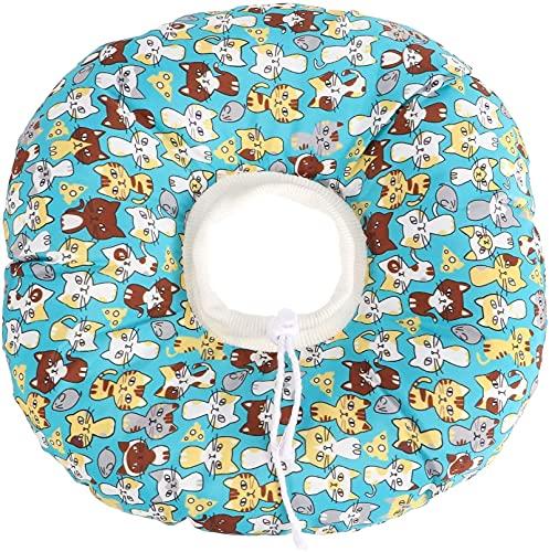 QIXIAOCYB Pet ElizabethanCollar Collar de recuperación práctico collar de recuperación premium Pet Cat Lindo collar decoración (color: azul, tamaño: M)