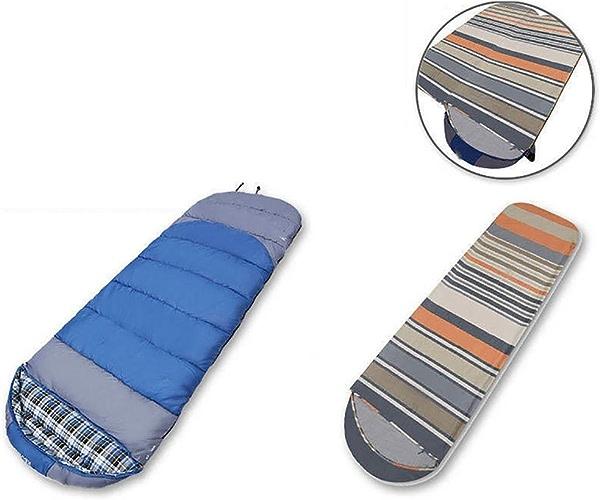 SDSLPB Outdoor Autumn and Winter Enveloppes en Coton Adulte Sac de Couchage Camping avec Doubleure