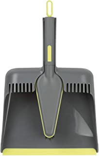 Casabella Way Clean Angle Dustpan & Brush Dustpan and Brush Set, Medium, Green and Taupe