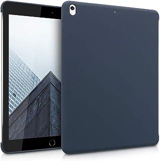 kwmobile Funda Inteligente Compatible con Apple iPad 9.7 (2017/2018) - Carcasa Trasera de Silicona en Azul Oscuro Mate