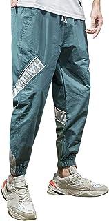 ZhixiaYS Men Overalls Casual Loose Pure Colour Pants Comfortable Trousers