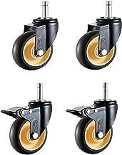 4 stks Meubilair Caster, Gewone Casters & Rem Lock Casters Combinatie, Heavy Duty Dining Car Casters, met een plunjer, 3/4...