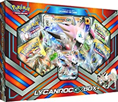 Pokemon 2017 Lycanroc GX box Oversized foil card: featuring Lycanroc-GX, a must have for your collection! Never-before-seen foil card: unique Lycanroc-GX also included. Online bonus card: contains one code card to continue the action and play online....