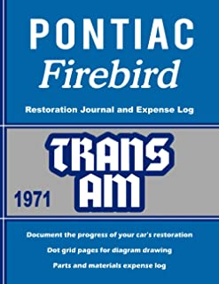 1971 TRANS AM - Restoration Journal and Expense Log: Document the progress of your car's restoration. Keep track of parts ...