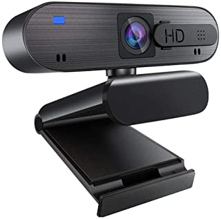 1080P Webcam with Microphone, Auto Focus Streaming Web Camera, USB Computer Camera for PC Mac Laptop Desktop Video Calling...