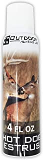 Hot Doe Estrus Deer Urine – 4 oz Aerosol Spray Can – Hunter Approved Buck Attractant – Cover & Conceal Human Scent & Smell When Hunting Whitetail – Same Season Collection – Hunt Ready Buck Bomb