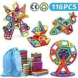nicknack Mini Magnetic Blocks Toys 3D Magnetic Building Blocks for Kids Baby and Toddler Gift STEM Educational Toys, 116pcs