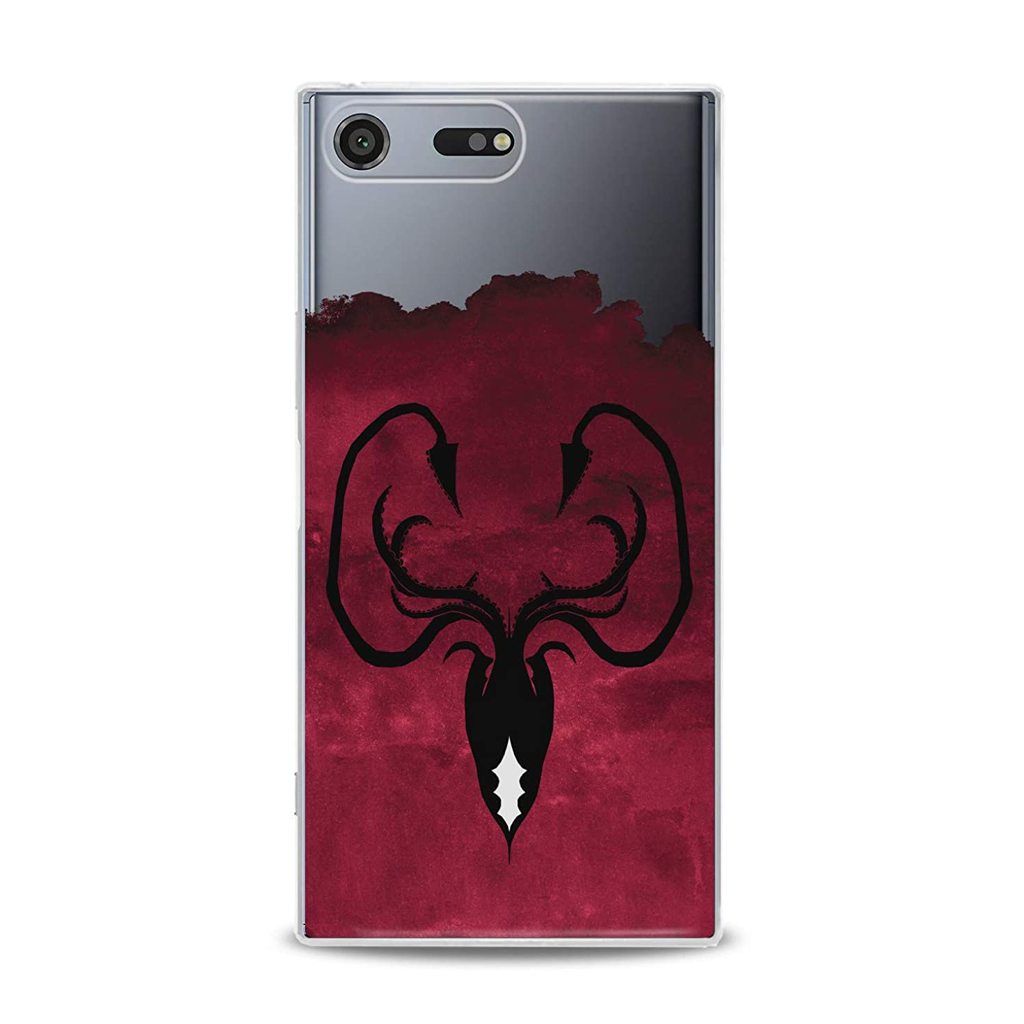 Lex Altern TPU Case for Sony Xperia L3 XZ3 XZ2 Premium XA3 Ultra XA2 Greyjoy Flexible Octopus Symbol Gift Smooth Black Print Slim fit Game of Thrones Cover Soft Clear Red Design Kingdoms Lightweight