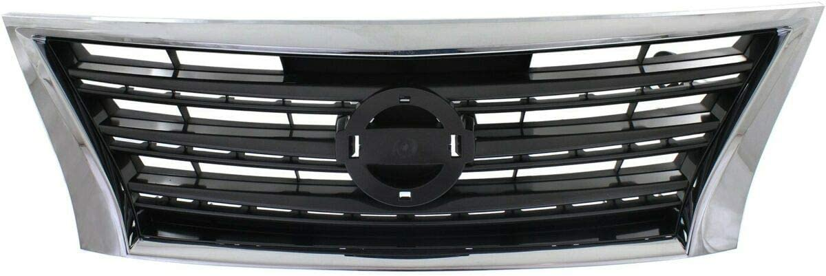 Ranking TOP11 Grille We OFFer at cheap prices Compatible with 2013-2015 Nissan Bl Chrome Shell w Sentra