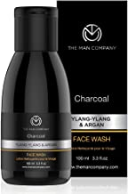 The Man Company Activated Charcoal Face Wash (Ylang Ylang & Argan Essential Oils) To Flight Pollution & Acne Oil Control -...