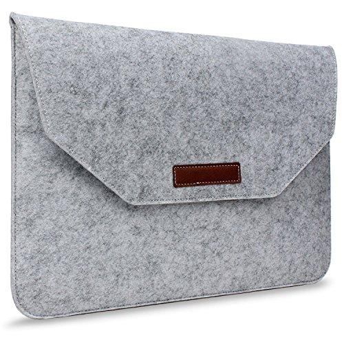 Umiko(TM Waterproof Fabric Laptop Shoulder Bag Laptop Sleeve Bag Notebook Case for MacBook Pro 15 inch Slim Eco Felt Notebook Envelope Bag/PU Leather Trim Tablet Computer Protective Sleeve Case