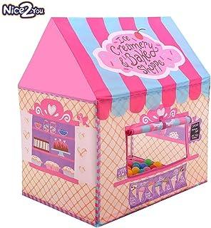 Nice2You tienda campaña infantil para niños carpa plegable - rosa