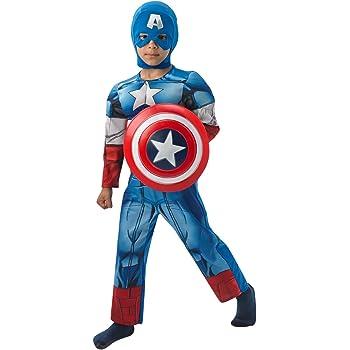 Rubies - Disfraz infantil, diseño Capitán América de Marvel, talla ...