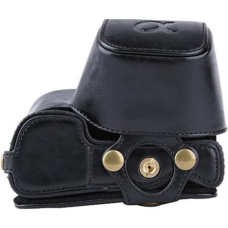 Pdxd Share Schutztasche Pu Leder Kamera Tasche Für Sony Alpha A6000 A6300 Kamera Mit 16 50mm Objektiv Bodenöffnung Schwarz Koffer Rucksäcke Taschen