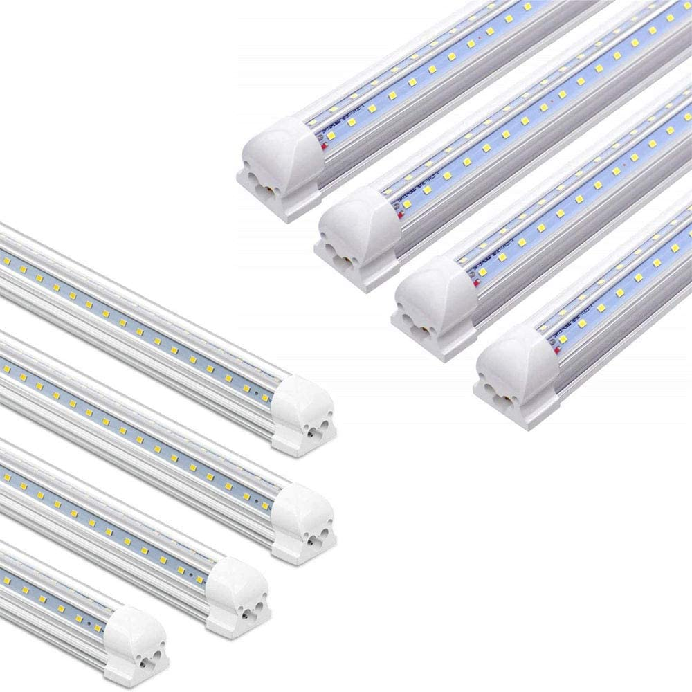 Free shipping New 4 Pack Easy-to-use 8FT+4 4FT LED SHOP T8 Output Tube Ligh High LIGHT