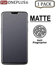 Tingtong Anti Glare Matte Finish Anti-Fingerprint Tempered Glass Screen Protector for OnePlus 6 (Matte Transparent)