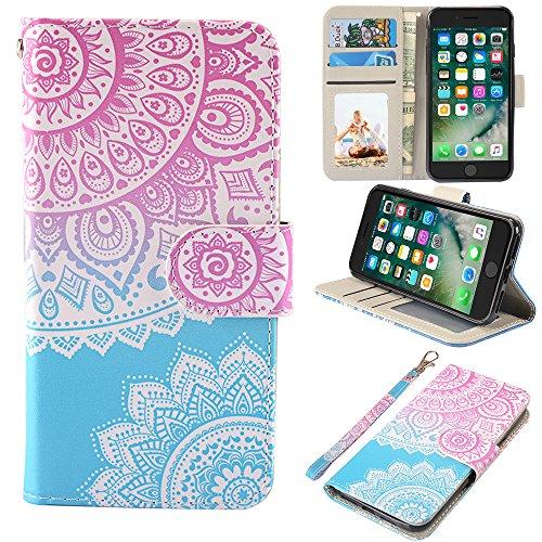 UrSpeedtekLive iPhone 7/iPhone 8/iPhone SE 2020 Wallet Case, Premium PU Leather Flip Case Cover w/Card Slots & Kickstand for Apple iPhone 7 (2016) / iPhone 8 (2017), iPhone SE 2020