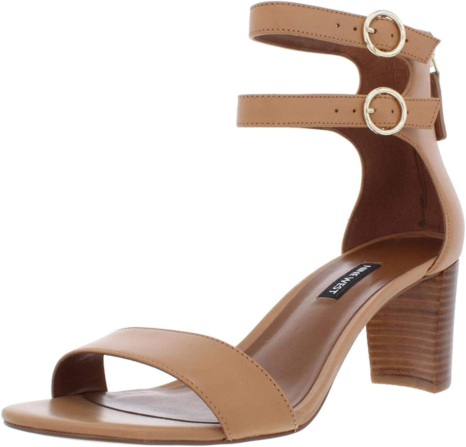 Nine West Womens Parlans Leather Strappy Dress Sandals