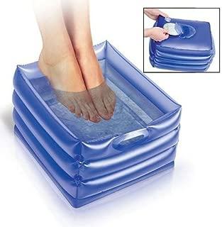 Inflatable Portable Massaging Foot Bath, Foot Spa, Relax + Soak Feet