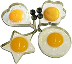 Jacqu Lovely Novelty roestvrij staal Fried Egg Shaper Ring Pancake Mould Cooking Tool