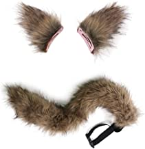 Faux Fur Fox Tail Ears Cosplay Props Spice And Wolf Long Plush Tails Theater