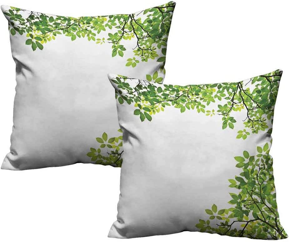 Dasnh 2 Piece List price Polyester All items in the store Square Leav Decorative Form Pillow Broad