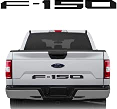 White Tacraft T-F15PW F150 Rear Tailgate Emblem Nameplate Black 2009-2014 for Ford F-150