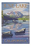 June Lake, California - Scene with Sierra Wave 31744 (19x27 Premium 1000 Piece Jigsaw Puzzle for Adults, Made in USA!)
