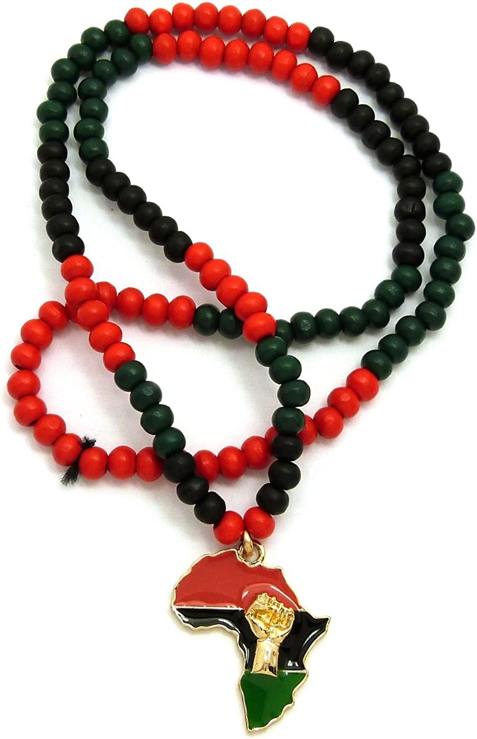 African Map  Beaded Necklace
