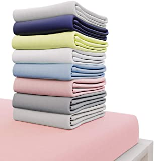 Dreamzie - Drap Housse 140x190 cm - 100% Coton Jersey Certifié Oeko-TEX® - Rose - pour Matelas 140 x 190 x 22 cm avec Gran...