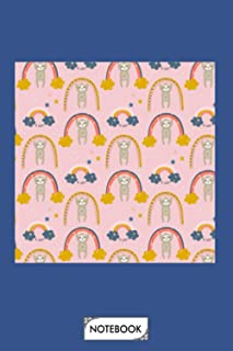 Later Gator Sloth Rainbow Neck Gaiter Notebook: Lined College Ruled Paper, 6x9 120 Pages, Journal, Matte Finish Cover, Pla...
