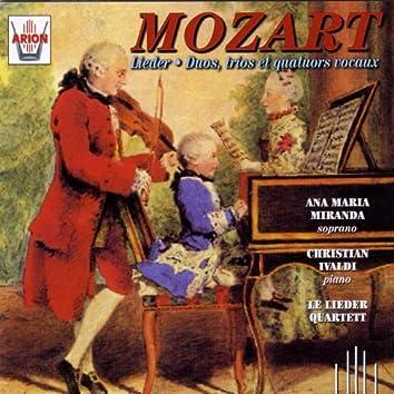 Mozart : Lieder duos, trios & quatuors vocaux