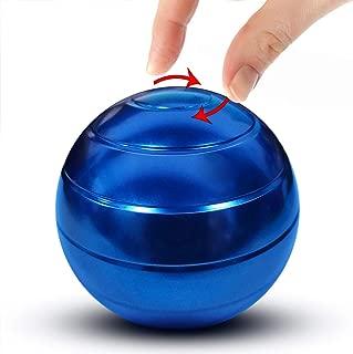 Manzelun Kinetic Desk Toys,Full Body Optical Illusion Fidget Spinner Ball,Gifts for Men,Women,Kids (Blue)