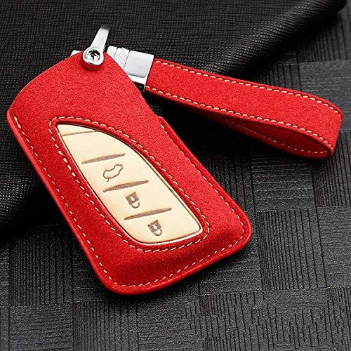 WASHULI Cubierta de la Caja de la Llave remota del Coche Cubierta de la Cubierta de la tecla Inteligente para Lexus NX GS RX es ES GX LX RC UX US 200 250H 350 LS 450H 260H 300H Brown (Color : Red)