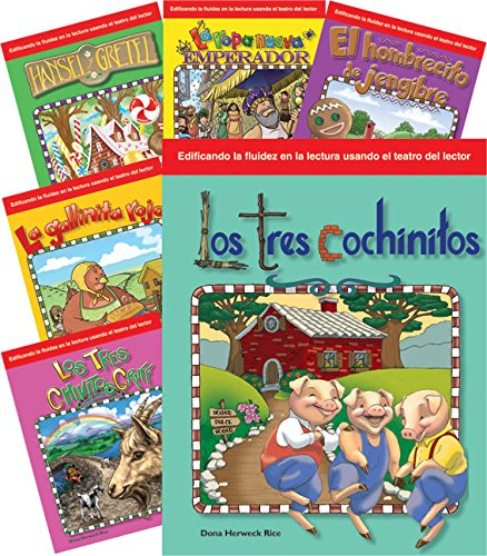 Reader's Theater: Children's Spanish Folk Tales & Fairy Tales (6-Book Set of scripts, plays and skits for Kindergaren & 1st grade students) (Building ... through Reader's Theater) (Spanish Edition)