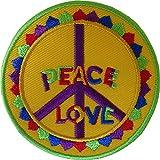 Parche bordado con el símbolo de la paz «Love Iron On Parch» para coser en la bolsa de...