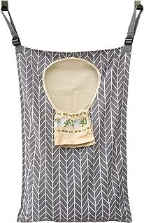 Amlrt Adjustable Door-Hanging Laundry Hamper with Stainless Steel Hooks