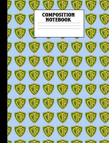 Composition Notebook: Choose the Right Green and Gold Wide Ruled Composition Book LDS CTR Ring Style Mormon Lined 100 Page Journal for Primary Elementary School or Seminary Students