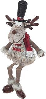 IH CASADECOR Prancer The Reindeer Plush Shelf Sitter, Multi