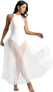 inhzoy Vestido Maillot de Danza Ballet para Ni/ña Malla Leotardo Body de Patinaje Gimnasia R/ítmica Tut/ú Falda Traje de Bailarina Actuaci/ón