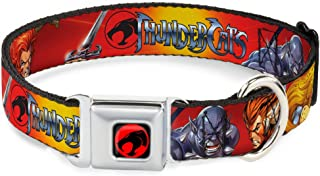 Buckle-Down Seatbelt Buckle Dog Collar - THUNDERCATS Group Red/Yellow - 1