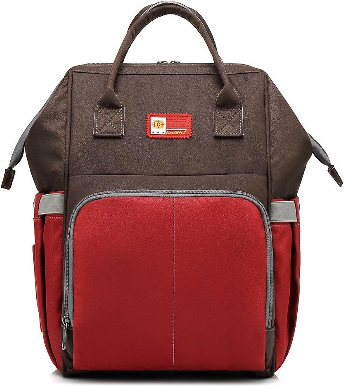 Irinay Mutter Rucksack Frauen Liefern Doppelten Schulter Rucksack Wasserdichten Jungen Business Laptop Bag Daypacks Rucksack E (Farbe   C, Größe   One Größe)